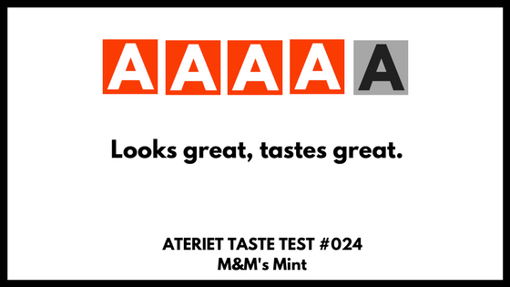 Let's Do The M&M's Mint Taste Test