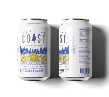 Monster Beer Can Packaging Design for Howling Coast Beer