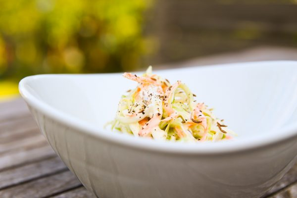 Classic Coleslaw Side Salad with Yogurt and Mayonnaise