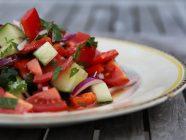Crunchy Mediterranean Side Salad with Plenty of Vegetables