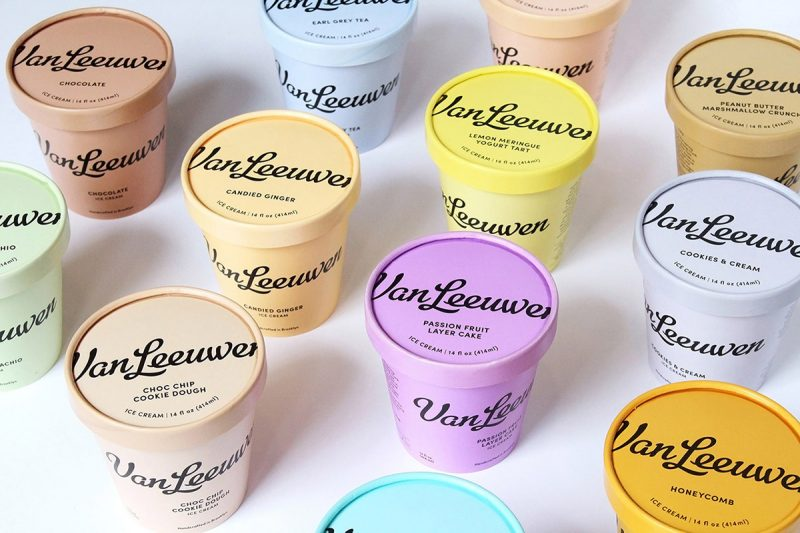Van Leeuwen Ice Cream Packaging and Branding