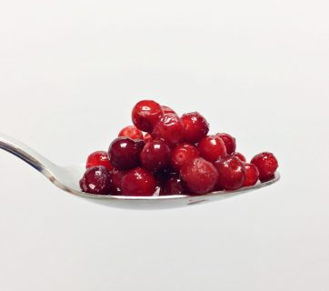 Lingonberry on spoon