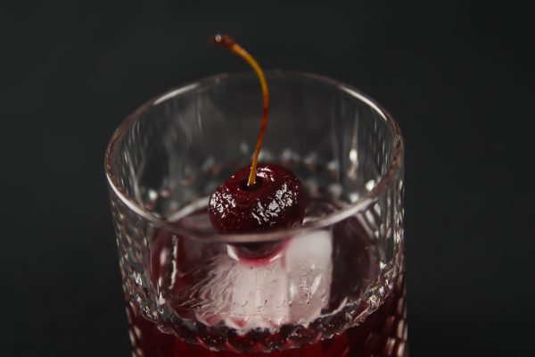 Cherry Old Fashioned with Port Wine & Orange Bitters