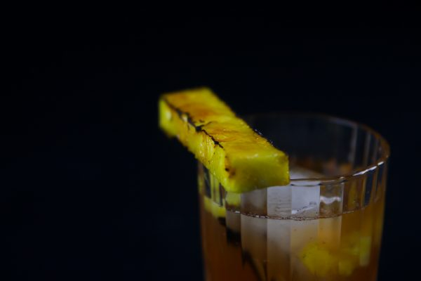 Pineapple Cocktail with Rum and Caramelized Pineapple