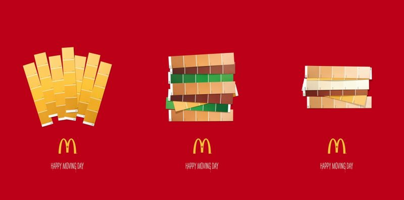 McDonald's Create Cool Paint Swatch Ads for Quebec's Moving Day