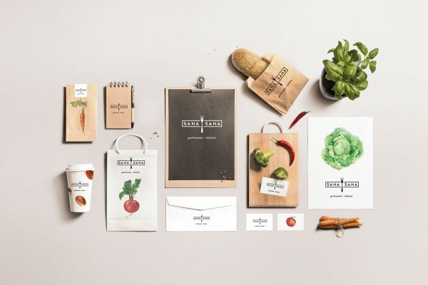 Illustrations of Vegetables Makes This Costa Rican Café Branding Stand Out
