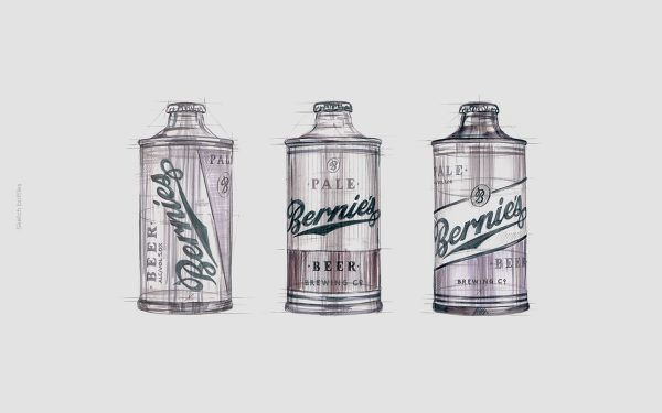 See The Amazing Beer Branding & Packaging for Bernie's Brewing