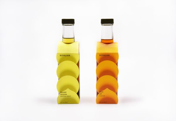 Flavored Oil Packaging Design for Boyajian Oil