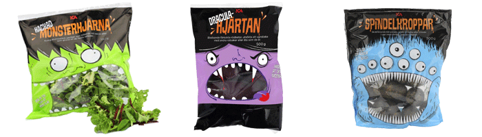 ICA In Sweden Just Made The Most Brilliant Halloween Themed Packaging Ever