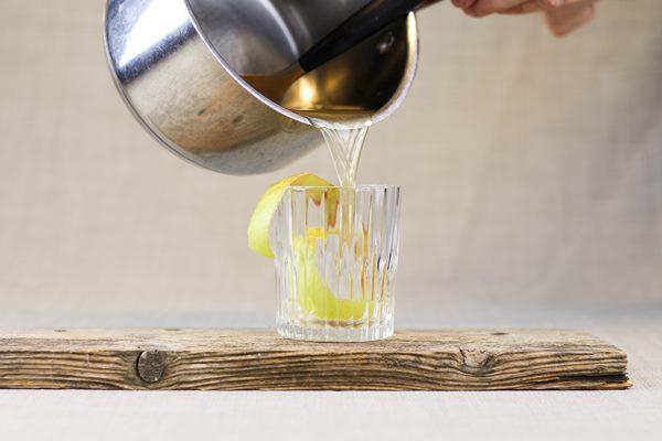 Warm Apple Calvados Punch with Cinnamon