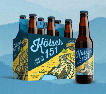 Blue Mountain Brewery Beer Packaging Designs