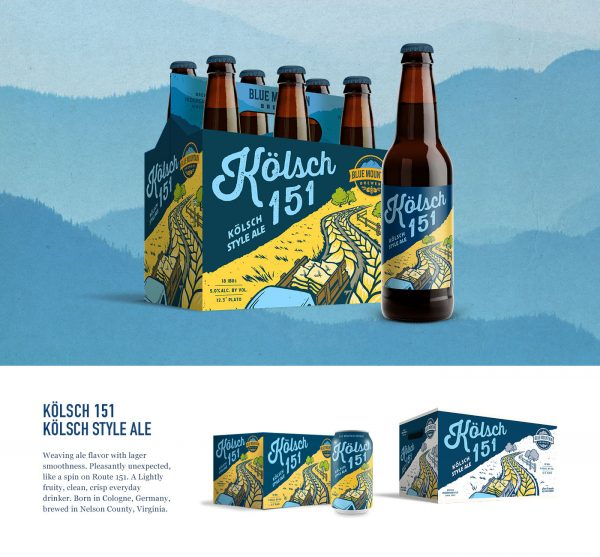 Blue Mountain Brewery Beer Packaging Designs