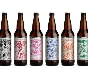 Take a look at this charming Doodle Beer Packaging Design