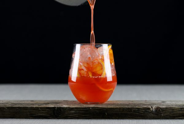 Boozy Blood Orange Lemonade with Vermouth