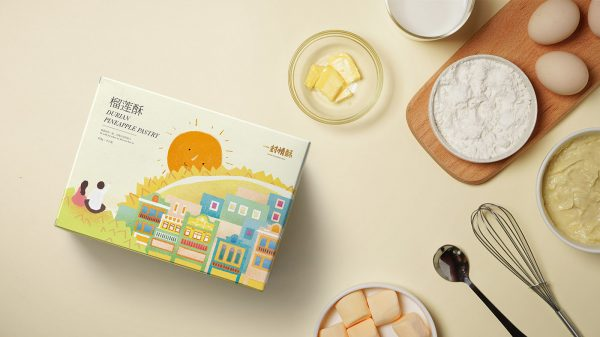 Chinese Cake Packaging Design - A Piece of Lovely Cake
