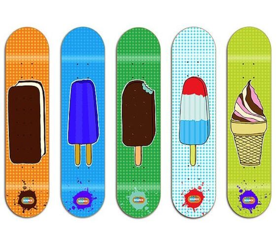 Popsicle Food Skateboards