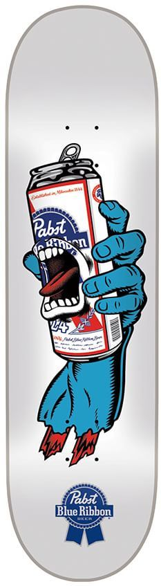 Screaming Hand Pabst Blue Ribbon Food Skateboards