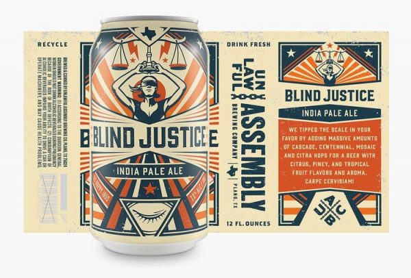 Propaganda Beer Packaging Design for Unlawful Assembly Brewing