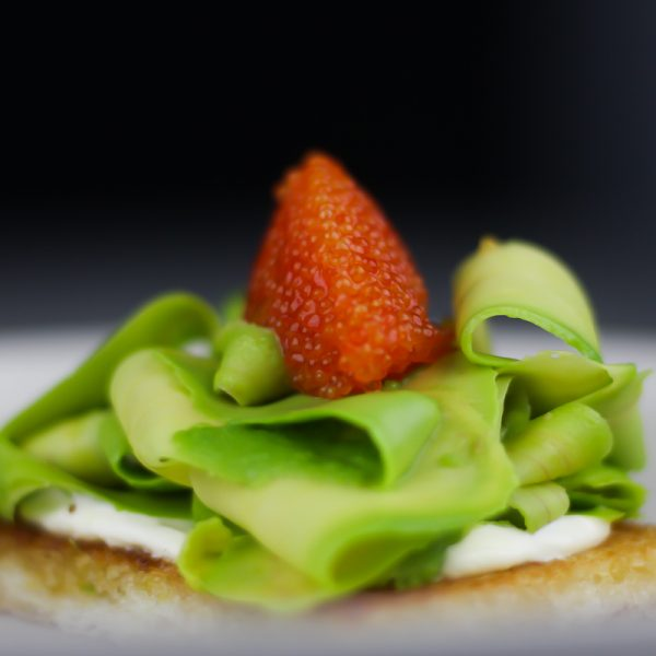 Avocado Toast with Lumpfish Roe, Lemon and Creme Fraiche