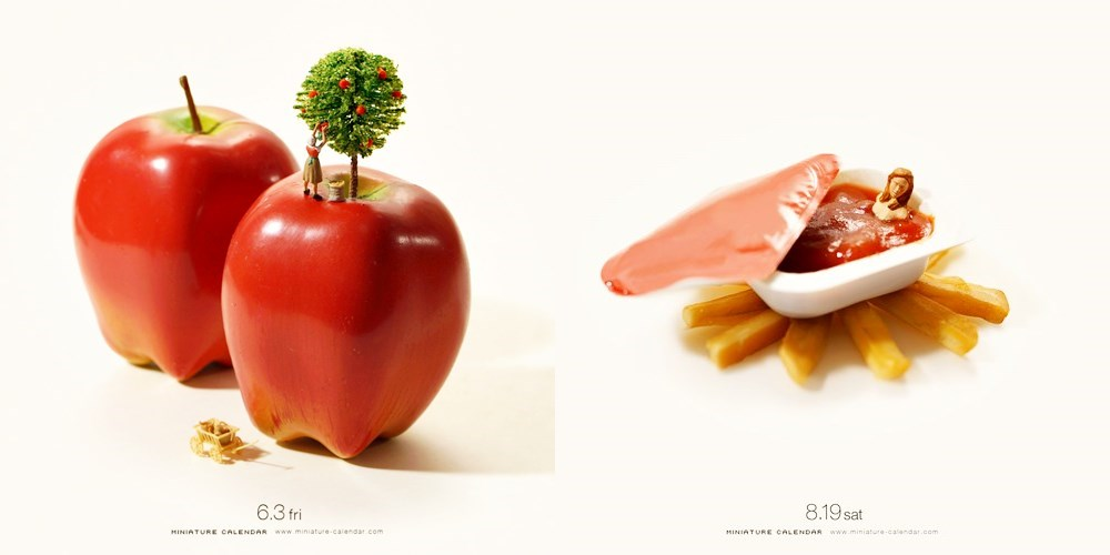 Miniature Calendar.Discover The Wonderful Miniature Calendar Food Photos