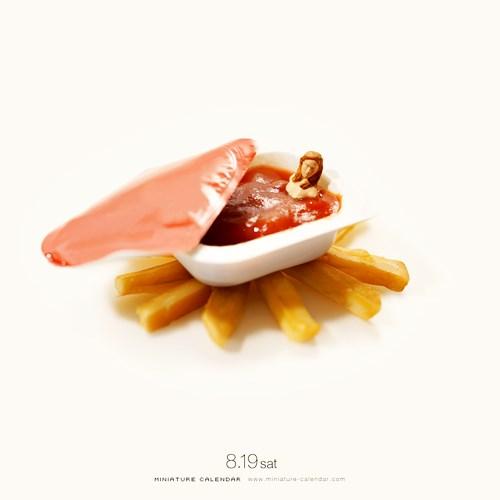 Discover The Wonderful Miniature Calendar Food Photos