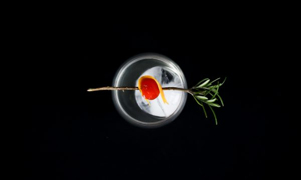 Maraschino Orange Cocktail with Rosemary
