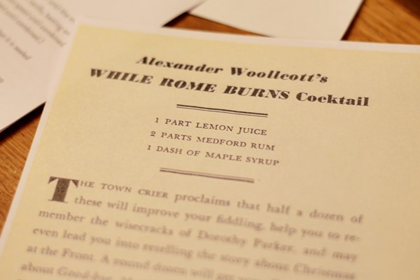 While Rome Burns Cocktail