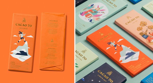 Cacao 70 Chocolate Branding and Packaging