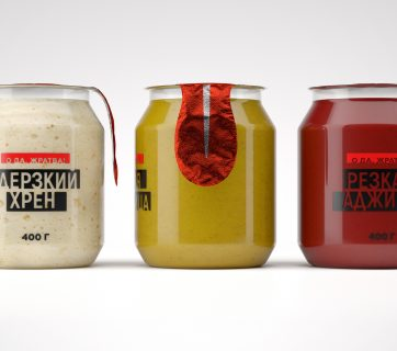 Playful Hot Sauce Packaging Design
