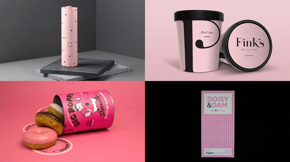 Pink Food Packaging - When The Color Pink Makes It Look Good
