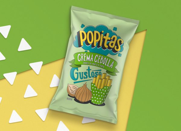 Popitas Snack Packaging Come in a Fun and Colorful Packaging