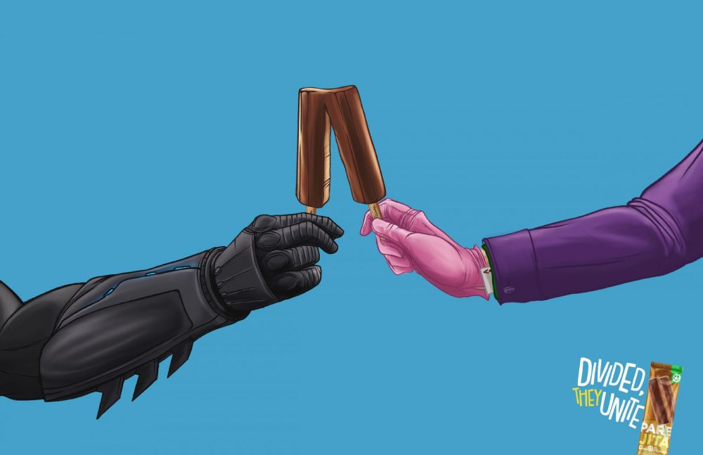 These Popsicle Ads Unite Heroes and Villains