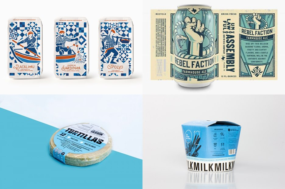 Blue Food Packaging