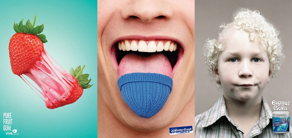 Creative Chewing Gum Ads - You'll Stick To These