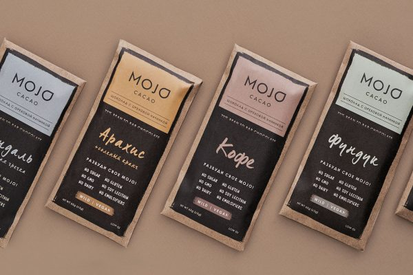Russian Chocolate Packaging Design for Mojo Cacao