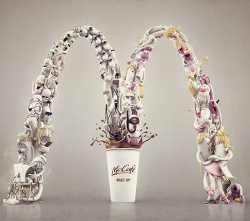 The Golden Arches as Art for McCafé