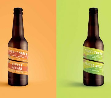 Ticketybrew is a beer that you'll learn to recognize fast. It comes with a twisted packaging design, check out the Ticketybrew beer packaging.