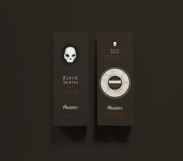 Skulls and White Magic makes Ricco's Coffee Packaging Great