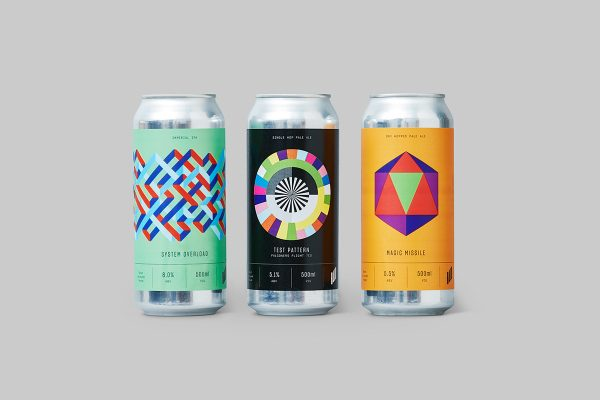 Halo Brew Beer Packaging Comes with Science Inspired Design