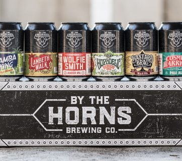 Beer Logo and Branding for By The Horns Brewing