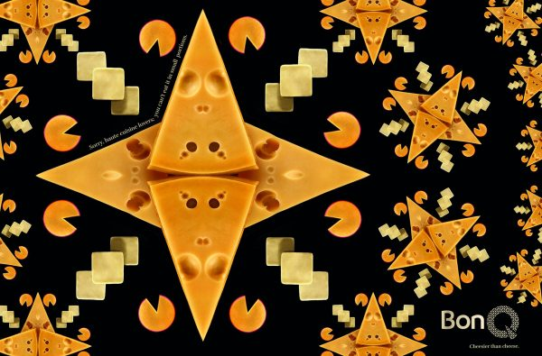 See the Beautiful Cheese Art Ads from BonQ