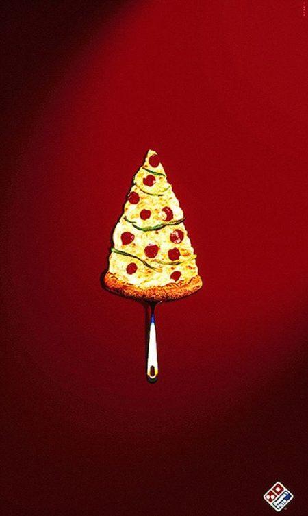 Creative Christmas Ads for Food