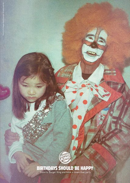 Burger King Brilliantly Mocks McDonald's With Clown Ads