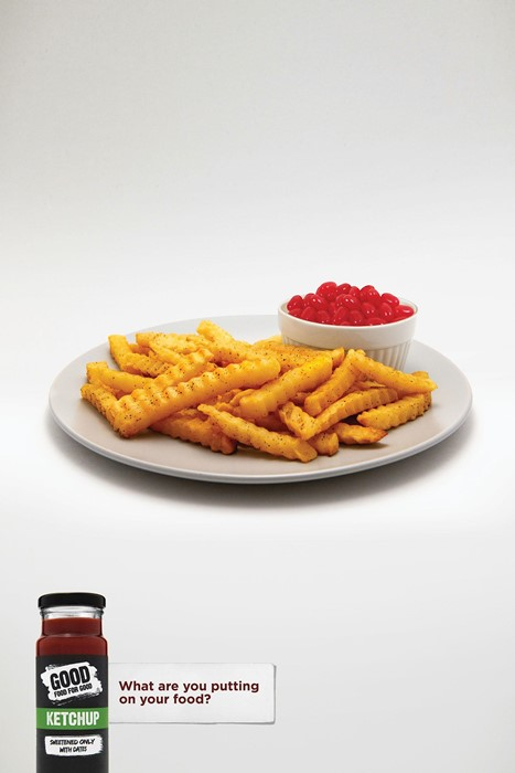 Clever Ads for Ketchup With Less Sugar